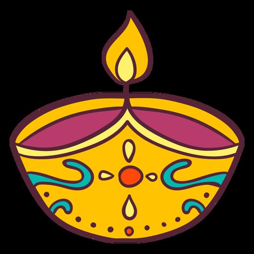 Lámpara de aceite de arcilla india