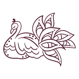 Indian peafowl element line