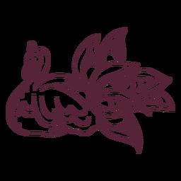 Línea de elemento de pavo real indio