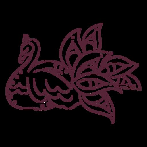Línea de elemento de pavo real indio Transparent PNG
