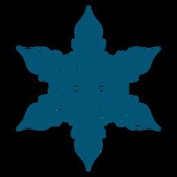 Elemento intrincado de copo de nieve