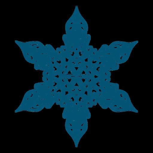Intricate snowflake element