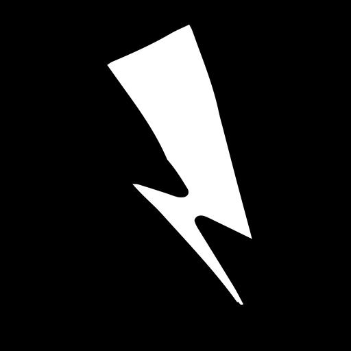 Lightning hand drawn doodle Transparent PNG