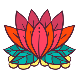 Elemento de flor de lótus