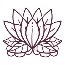 Línea de elementos de flor de loto