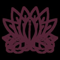 Linha de elemento de flor de lótus