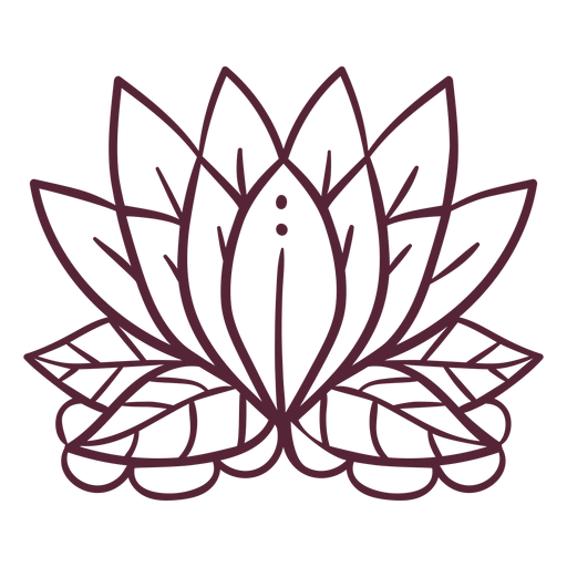 Lotus flower element line