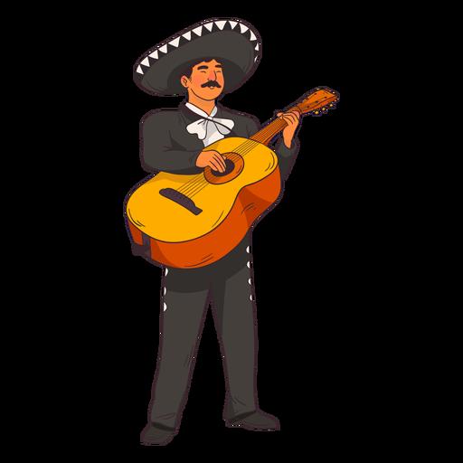 Dibujos animados de guitarrista de mariachi Transparent PNG