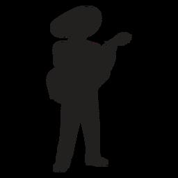 Silueta de guitarrista mariachi