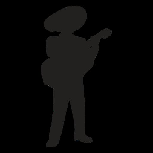 Silueta de guitarrista mariachi Transparent PNG