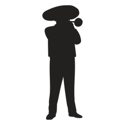 Mariachi trumpet player silhouette