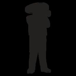 Silueta de trompetista mariachi