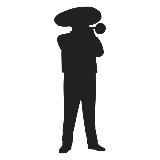 Mariachi trumpet player silhouette Transparent PNG
