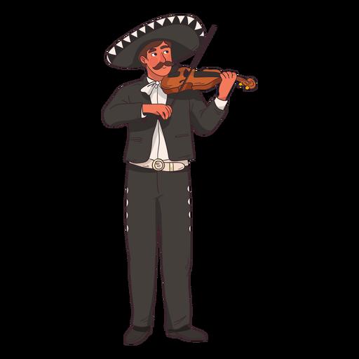 Dibujos animados de jugador de violín mariachi Transparent PNG