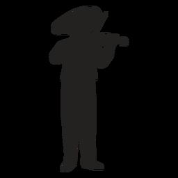 Silueta de violinista mariachi