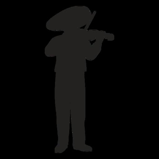 Mariachi violin player silhouette Transparent PNG