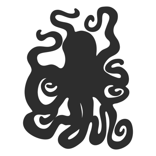 Menacing octopus silhouette Transparent PNG