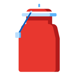 Metal milk jug icon