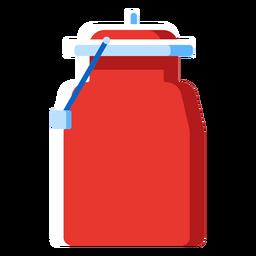Metal milk jug icon