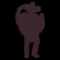 Silueta de jugador de maracas mexicano
