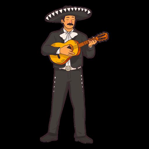 Mexican mariachi character cartoon