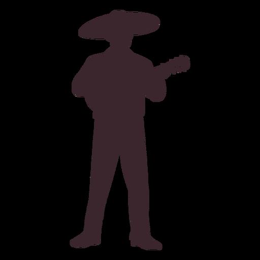 Silueta de personaje de mariachi mexicano Transparent PNG