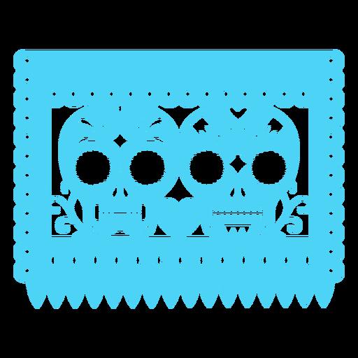Bandera de calaveras mexicanas