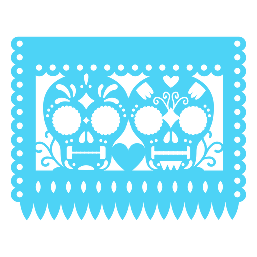 Mexican skulls banner