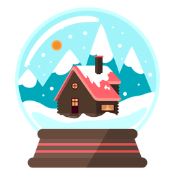 Mountain cottage snow globe