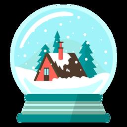 Globo de neve montanha Lodge
