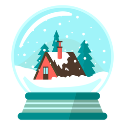 Mountain lodge snow globe