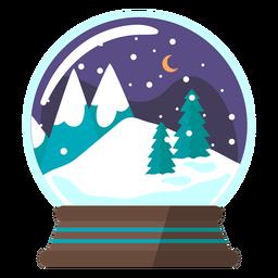 Escena de montaña globo de nieve