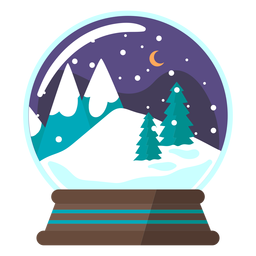 Mountain scene snow globe