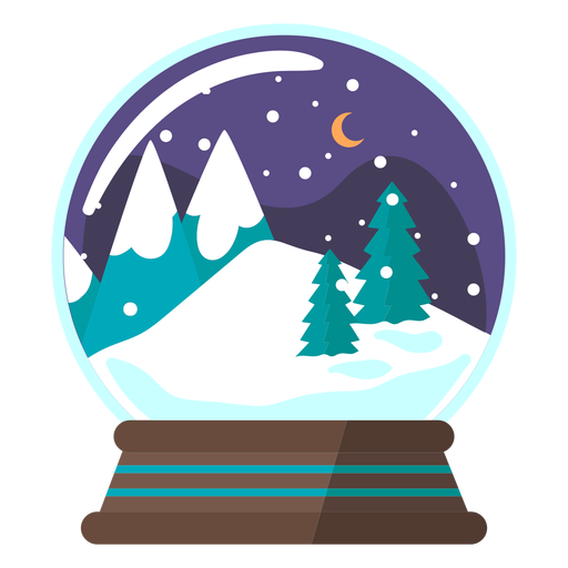 Globo de nieve de escena de montaña