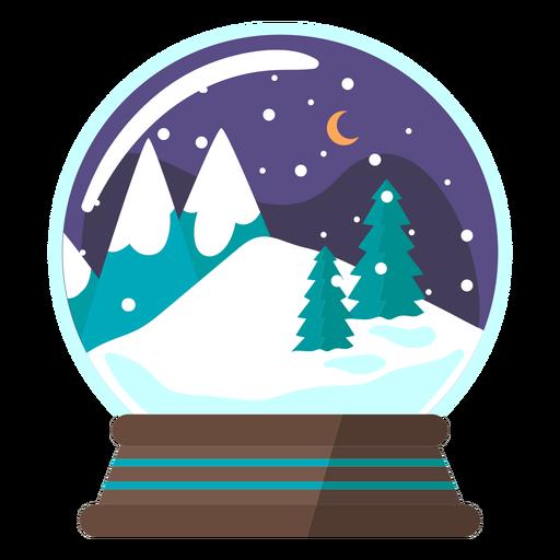 Mountain scene snow globe