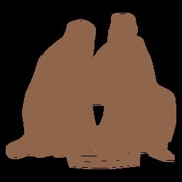 Nativity holy family silhouette