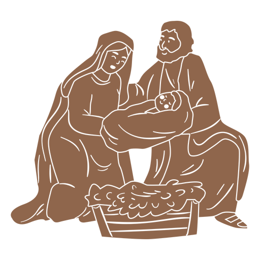Nativity Holy Family Silhouette Transparent Png Svg Vector File