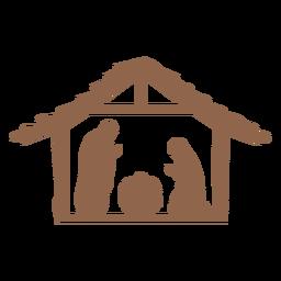 Natividad de Jesús escena silueta