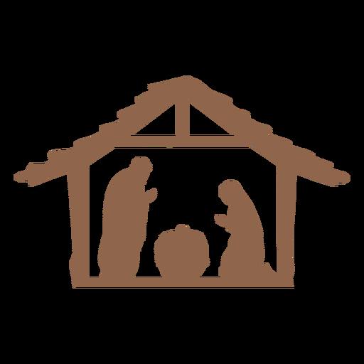 Natividad de Jesús escena silueta Transparent PNG