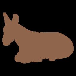 Belén escena burro silueta