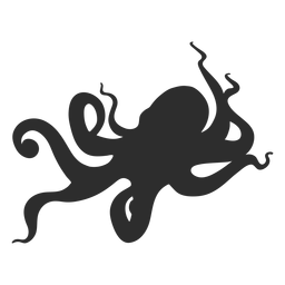 Octopus animal silhouette