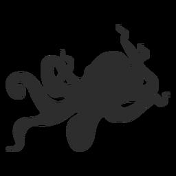 Silhueta animal de polvo