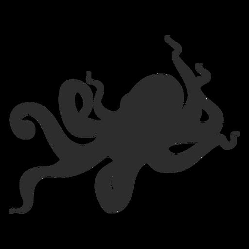Silueta animal pulpo Transparent PNG