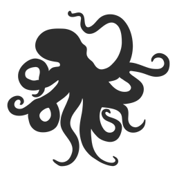 Octopus silhouette animal