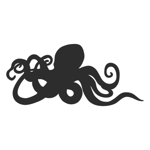 Octopus standing still silhouette Transparent PNG