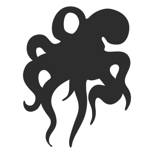 Octopus swimming silhouette Transparent PNG