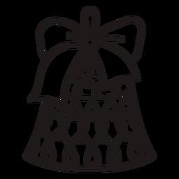 Ornamented christmas bell stroke