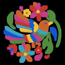 Vogel im Otomi-Stil