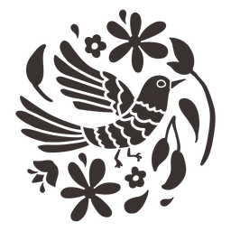 Otomi style bird silhouette