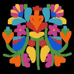 Composición floral de estilo otomí